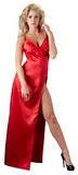 Červené saténové šaty