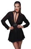 Šifónové mini šaty