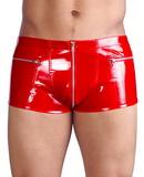 Pánske vinylové nohavice červené