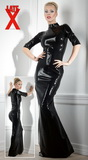 Dlhé a tesné latexové šaty