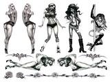 Tattoo súprava - Naughty Pin-Up