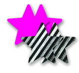 Ozdoby na bradavky - farebné hviezdičky