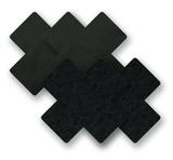 Ozdoby na bradavky - čierne krížiky