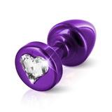Análny kolík Diogol Anni R Heart Purple 25 mm
