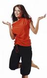 Fitness tričko gWinner Atena III oranžové