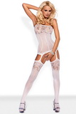 Bodystocking Obsessive F204 biely
