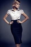Dámska sukňa Figl M044 čierna