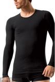 Bezšvové tričko Brubeck LS01120 čierne