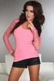 Dámske tričko LivCo Corsetti Hortense ružové
