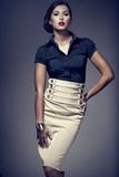Dámska sukňa Figl M036 béžová