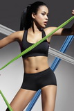 Fitness šortky BasBleu Forcefit 30 čierne