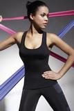 Fitness top BasBleu Teamtop 70 čierny