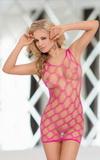 Erotické šaty Softline Kitty neónovo ružové