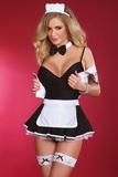 Erotický kostým LivCo Corsetti Flirty maid čierno-biely
