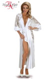 Erotický župan Beauty Night Fashion Bouquet biely