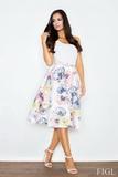 Dámska sukňa Figl M383 kvetinková