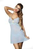 Erotická košieľka DKaren Hera svetlo modrá