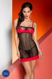 Erotická košieľka Avanua Celia červeno-čierna