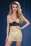 Erotická košieľka LivCo Corsetti Abiona čierno-žltá