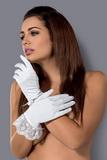 Erotické rukavičky Obsessive Etheria biele