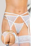 Erotický podväzkový pás Softline Collection 3318 biely