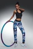 Fitness nohavice BasBleu Chalice modro-fialové