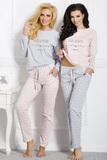Dámske pyžamo Taro Nadia 1190 šedo-ružové