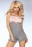 Dámske pyžamo LivCo Corsetti Model 102 šedo-ružové