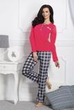 Dámske pyžamo Taro Gizela 1195 červeno-šedé
