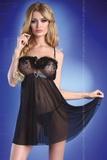 Erotická košieľka LivCo Corsetti Polly čierna
