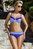 Dámske dvojdielne plavky Ewlon Magda modro-krémové
