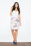 Dámska sukňa Figl M387 kvetinková