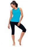 Fitness nohavice gWinner Capri čierne