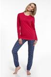 Dámske pyžamo Cornette 66758 Blanca červené