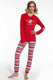 Dámske pyžamo Cornette 67154 Reindeer červené
