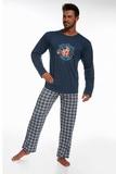 Pánske pyžamo Cornette 12463 Hockey džínsové