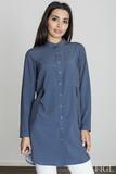 Dámska košeľa Figl M545 tmavo modrá