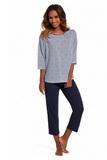 Dámske pyžamo Cornette 147139 Allie modré