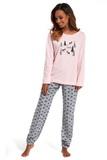 Dámske pyžamo Cornette 627132 Its snowing ružové
