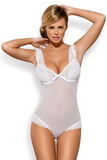 Erotické body Obsessive Julitta biele