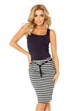 Dámska sukňa Numoco 127-2 šedo-čierna
