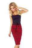 Dámska sukňa Numoco 127-1 červeno-čierna