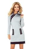 Dámske šaty Numoco 129-1 šedé