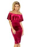Dámske šaty Numoco 138-3 vínová