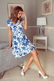 Dámske šaty Morimia 003-3 bielo-modré