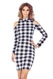 Dámske šaty Morimia 008-2 čierno-biele