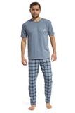 Pánske pyžamo Cornette 13498 Mountain melanžové