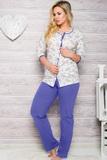 Dámske pyžamo Taro 2126 modré