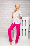 Dámske pyžamo Taro 2126 fuchsiové