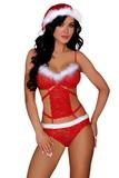 Vianočný kostým LivCo Corsetti Minerva červený